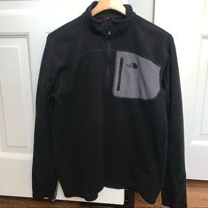North Face 1/4 Zip Fleece Pullover Men's L